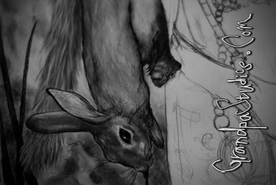 A sneak peek of one of my recent drawings which I completed last week